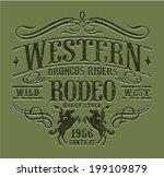 Western Riders Rodeo  Vintage...