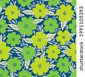 seamless pattern flower design...   Shutterstock .eps vector #1991105393