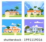 collection residential home...   Shutterstock .eps vector #1991119016