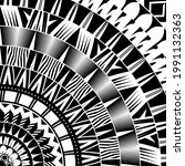abstract polynesian style... | Shutterstock .eps vector #1991132363