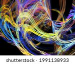 Fractal Colored Abstract  Round ...