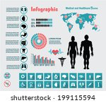 healthcare medical infographic | Shutterstock .eps vector #199115594