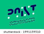 modern font design  alphabet... | Shutterstock .eps vector #1991159510
