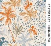 beautiful abstract tropics... | Shutterstock .eps vector #1991161523