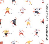 seamless pattern with... | Shutterstock .eps vector #1991169593