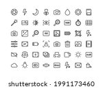 camera interface outline icon...
