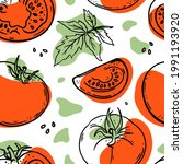 tomato pattern abstract...   Shutterstock .eps vector #1991193920