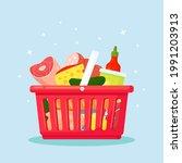 plastic shopping baskets for...   Shutterstock .eps vector #1991203913