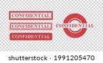 vector set of realistic... | Shutterstock .eps vector #1991205470