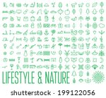 lifestyle   nature icons | Shutterstock .eps vector #199122056