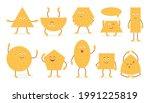 cute funny emoji wheat biscuit... | Shutterstock .eps vector #1991225819
