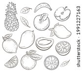 natural fruits  vitamin juice....   Shutterstock .eps vector #1991227163