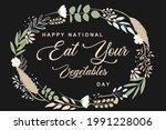 eat your vegetables. happy...   Shutterstock .eps vector #1991228006