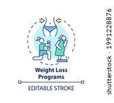 weight loss programs concept... | Shutterstock .eps vector #1991228876