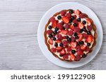 delicious tart with fresh... | Shutterstock . vector #199122908