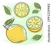 natural fruits  vitamin juice....   Shutterstock .eps vector #1991229983