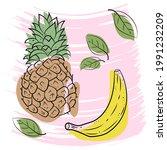 natural fruits  vitamin juice....   Shutterstock .eps vector #1991232209