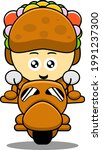 taco mascot character cartoon...   Shutterstock .eps vector #1991237300