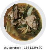 korean bone potato hangover soup   Shutterstock .eps vector #1991239670
