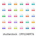 set of file formats icons. file ...