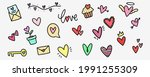 love doodle collection. heart...   Shutterstock .eps vector #1991255309