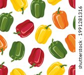 seamless pattern with bell...   Shutterstock .eps vector #1991281316