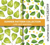 delicious summer pattern...   Shutterstock .eps vector #1991282549