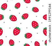 strawberry seamless vector...   Shutterstock .eps vector #1991299166