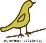 bird on a branch gardening...   Shutterstock .eps vector #1991304110