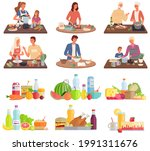 set of illustrations about...   Shutterstock .eps vector #1991311676