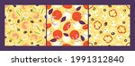 pizza topping seamless patterns ...   Shutterstock .eps vector #1991312840