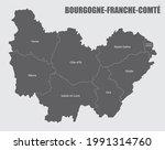 bourgogne franche comte... | Shutterstock . vector #1991314760
