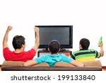 group of friends watching... | Shutterstock . vector #199133840