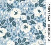 stylish beautiful flowers... | Shutterstock .eps vector #1991352830