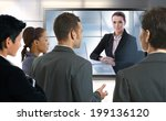 young businesspeople and... | Shutterstock . vector #199136120