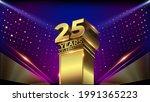 25 years jubilee blue pink... | Shutterstock .eps vector #1991365223