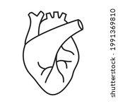 illustration of heart organ... | Shutterstock .eps vector #1991369810