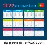 2022 calendar   vector template ... | Shutterstock .eps vector #1991371289