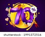 mega sale. 70 percent discount. ... | Shutterstock .eps vector #1991372516