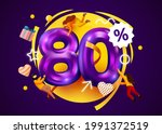 mega sale. 80 percent discount. ... | Shutterstock .eps vector #1991372519