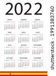 calendar 2022   illustration.... | Shutterstock .eps vector #1991383760