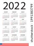 calendar 2022   illustration.... | Shutterstock .eps vector #1991383799