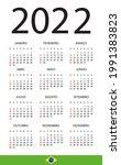 2022 calendar   vector template ... | Shutterstock .eps vector #1991383823