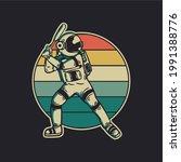 vintage design astronaut...   Shutterstock .eps vector #1991388776