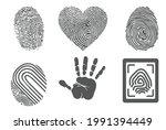 the fingerprint with the... | Shutterstock .eps vector #1991394449