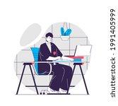school web concept. student...   Shutterstock .eps vector #1991405999