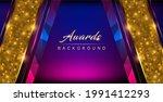 blue pink golden shimmer awards ...   Shutterstock .eps vector #1991412293