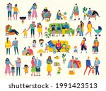 i love my family. cute vector... | Shutterstock .eps vector #1991423513
