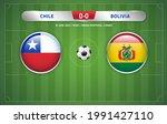 chile vs bolivia scoreboard... | Shutterstock .eps vector #1991427110