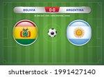 bolivia vs argentina scoreboard ... | Shutterstock .eps vector #1991427140